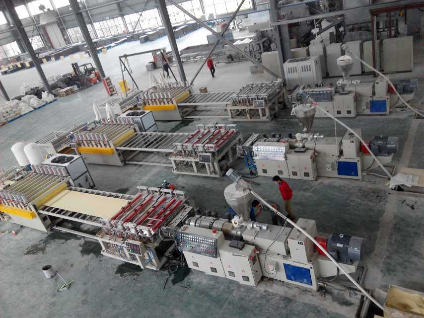 WPC(PVC+WOOD) Floor Base Layer Extrusion Line