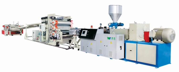 PVC free foming board extrusion line
