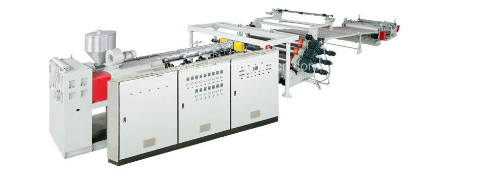 PC、PMMA、PS、MS hollow board production line